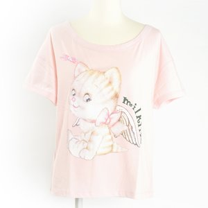 milklim Cute Angel Kitty T-Shirt