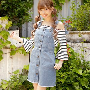 LIZ LISA Denim Overall Skirt