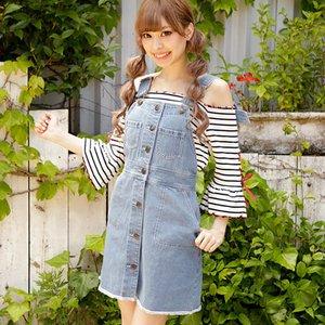 LIZ LISA Denim Overall Skirt