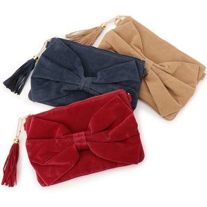 LIZ LISA Ribbon Clutch Bag w/ Shoulder Strap