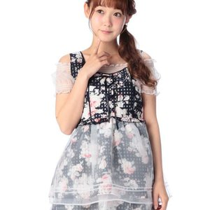 LIZ LISA Flower Bandana Lace Top