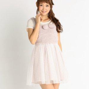 LIZ LISA Soft & Fluffy Bustier Dress