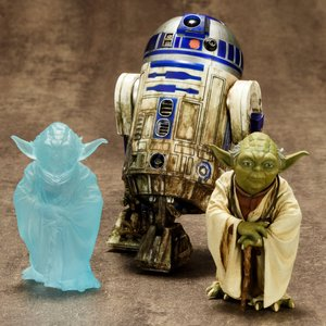 Figures & Dolls / Scale Figures / ArtFX+ Star Wars Yoda & R2-D2 Dagobah 2-Pack