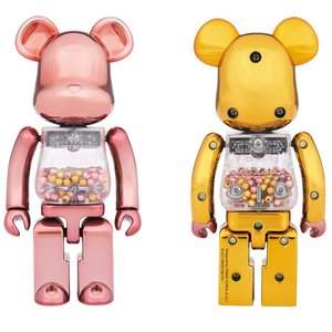 Super Alloy My First BE@RBRICK Pink & Gold Ver.