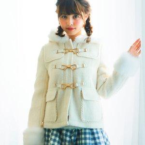 LIZ LISA Ribbon Bit Short Duffle Coat