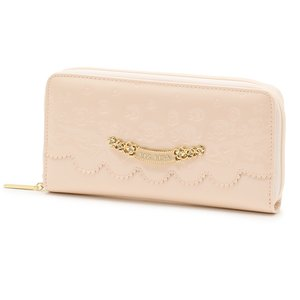 LIZ LISA Embossed Enamel Zip-Around Wallet