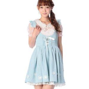 LIZ LISA Flower Motif Pinafore Dress