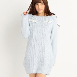 LIZ LISA Off-Shoulder Knit Winter Dress