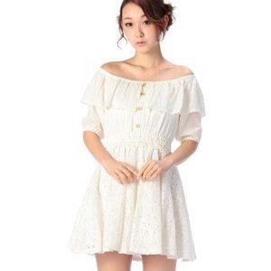 LIZ LISA Lace Off-the-Shoulder Dress