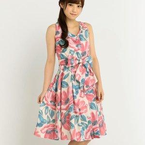 LIZ LISA Large Flower Pattern Dress