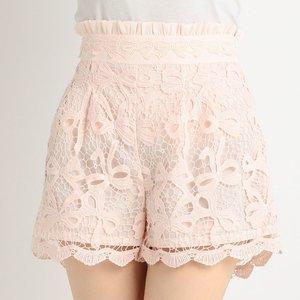 LIZ LISA Ribbon Pattern Lacy Sukapan Skirt