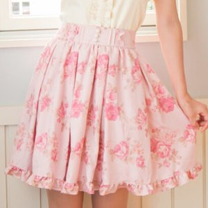 LIZ LISA Vintage Rose Skirt