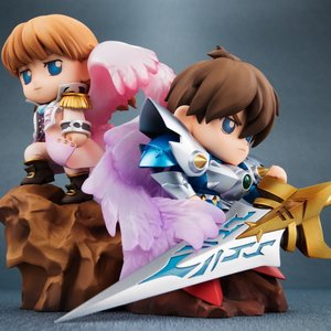 Figures & Dolls / Chibi Figures / New SD Gundam Mobile Suit Gundam Wing Heero & Relena Non-Scale Figure Set