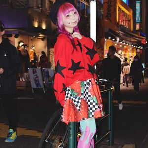 ACDC RAG Checkered Strawberry Flared Skirt