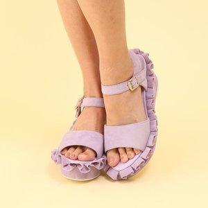J-Fashion / Shoes / Honey Salon Frilly Sandals (Lavender)