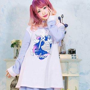 LISTEN FLAVOR Starry Unicorn Sailor Dress