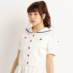J-Fashion / Cardigans & Hoodies / LIZ LISA Puffed Sailor Jean Jacket