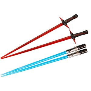Home & Kitchen / Chopsticks & Cutlery / Star Wars Lightsaber Chopsticks: Kylo Ren & Rey Battle Set
