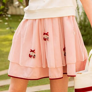 LIZ LISA Chocolate-Dipped Cherries Skirt