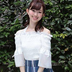 LIZ LISA Frilly Sleeve Shirred Top