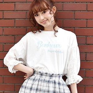LIZ LISA Lace-Up Back Logo T-Shirt