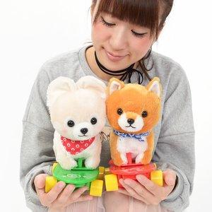 Plushies / Big Plushies / Mameshiba San Kyodai Melody Skateboard Dog Plush Collection
