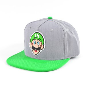 Nintendo Luigi Rubber Sonic Weld Gray/Green Snapback
