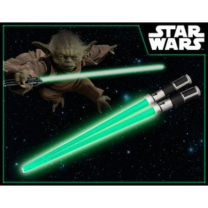 Home & Kitchen / Chopsticks & Cutlery / Star Wars Lightsaber Chopsticks - Yoda Light Up Ver. (Renewal)
