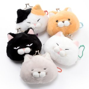 Plushies / Plushie Accessories / Hige Manjyu Cat Plush Mini Coin Pouches