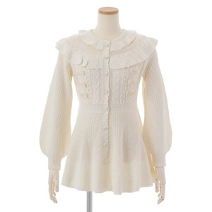 LIZ LISA Ribbon Peplum Cardigan