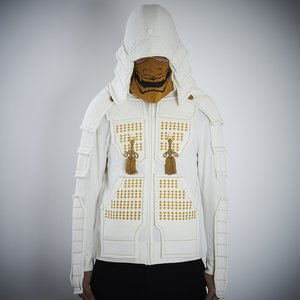 Otaku Apparel & Cosplay / Jackets & Hoodies / Samurai Armor Hoodie Set <White>