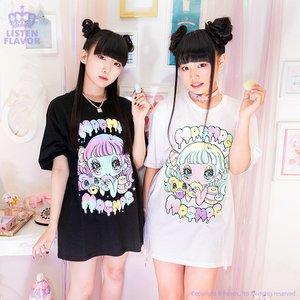 LISTEN FLAVOR x Yurie Sekiya MogMog Girl Collab T-Shirt