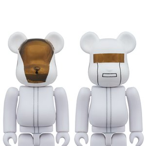 Toys & Knick-Knacks / Collectable Toys / BE@RBRICK 100% Daft Punk (White Suit Ver.) Guy-Manuel de Homem-Christo/Thomas Bangalter 2-Pack