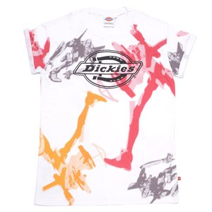 Otaku Apparel & Cosplay / Tops / Evangelion x Dickies Unit-02 Print White T-Shirt