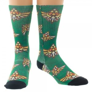 Nintendo Legend of Zelda Crest Sublimated Crew Socks