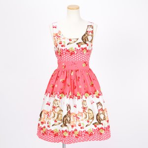 milklim Strawberries & Cats Dress
