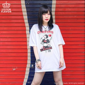 LISTEN FLAVOR Demon Cherry Big T-Shirt