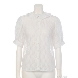 Swankiss Round Collar Lace Blouse