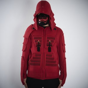 Otaku Apparel & Cosplay / Jackets & Hoodies / Samurai Armor Hoodie Set <Red>