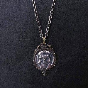 Berserk Skull Knight Coin Silver Pendant