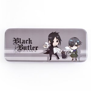 Black Butler Sebastian & Ciel Tin Pencil Case