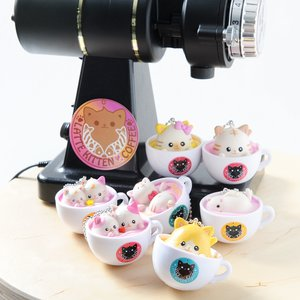 Stationery / Smartphone Straps / Latte Kitten Coffee New Flavor 2nd Cup (Ball Chain)