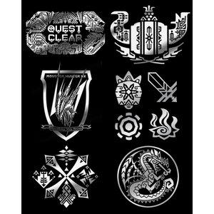 Monster Hunter XX Maki-e Stickers