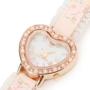 LIZ LISA Rose Watch w/ Heart Dial
