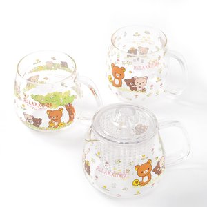 Home & Kitchen / Cookware & Kitchen Tools / Mugs & Glasses / Rilakkuma Korilakkuma to Atarashii Otomodachi Heat-Resistant Glass Tea Set