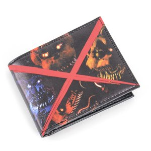 Otaku Apparel & Cosplay / Bags & Wallets / Five Nights at Freddy's Evil Faces Bi-Fold Wallet