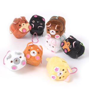 Plushies / Plushie Accessories / Square Japanese Dogs Plush Coin Pouches