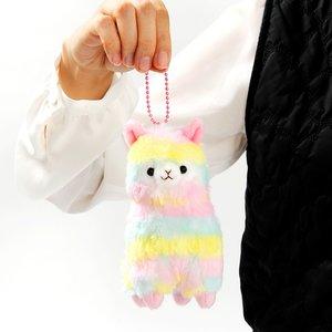 Rainbow Alpacasso Alpaca Plush (Ball Chain)