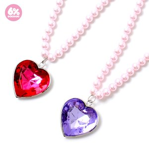 6%DOKIDOKI Jewel Heart Pearl Necklace