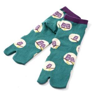 Buden Nagomi Modern Women's Tabi Socks - Owl